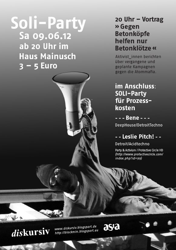 Soliparty im Mainusch